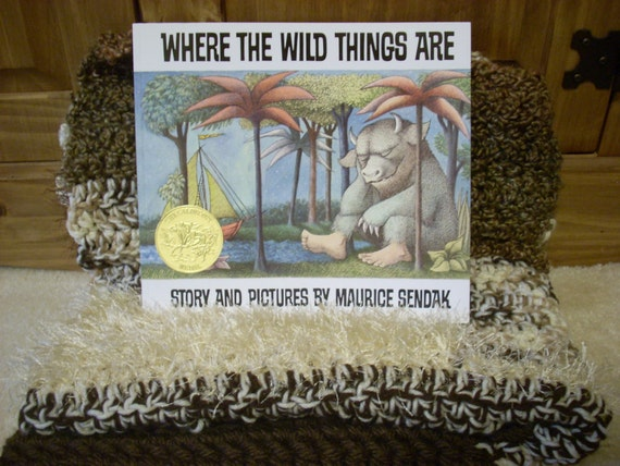 OOAK book and blankie set-Where the Wild Things Are