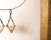 Bronze Arrowhead Triangle Earrings in Reclaimed Bronze - Hammered - Navajo - Rustic