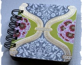 Amy Butler - Gold Green Gray - Lotus Tea Box Primrose - Post It Note Holder Planner