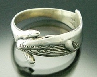 Blue Whale Ring Sterling (sizes 5-13)