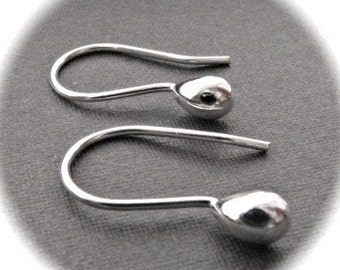 Simplistic French Ear Wires in Solid STERLING SILVER - plain and simple