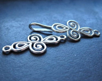 Sterling Silver Clasp - Summer in Egypt - Solid Sterling Silver hook and eye clasp