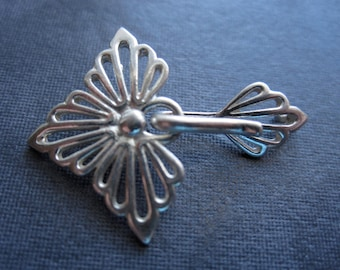 My Greatest Fan - Solid Sterling Silver - hook and eye clasp - 28mm X 21mm
