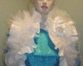 Bridal Shrug,Pleated Bridal Shoulder Wrap,White Silk Sleeveless Bolero,Bridal Wrap,Wedding Shrug,Wedding Bolero