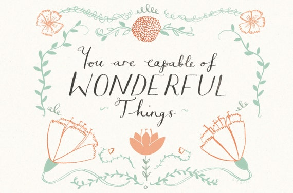 WONDERFUL THINGS Card