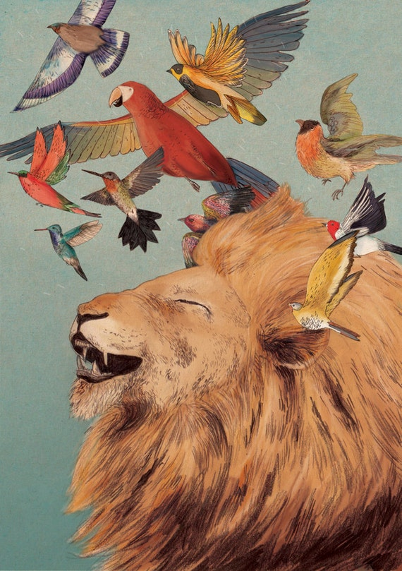 The Lions Laugh giclee print