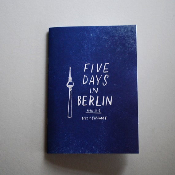 Five Days in Berlin travel diary zine
