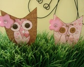 Evelyn and Emma Owl Embellies