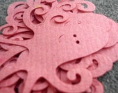 Pink Octopus Recycled Paper Die Cuts Set of 10
