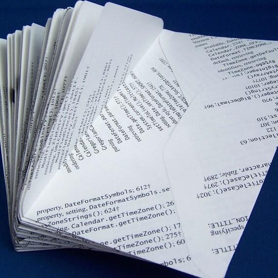 Recycled Envelopes - Javalopes - Set of 10