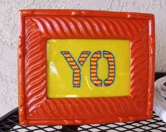 Neon Framed Embroidery - YO