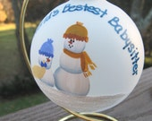 Babysitter Christmas Ornament with Stand with Free Personalization