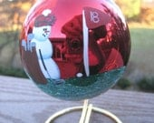 Golf Snowman Christmas Ornament with Stand  Free Personalization!