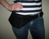 Black Extended Pouch Hiking Belt Bag