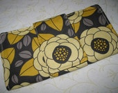 Grey and Yellow Flowers Wallet