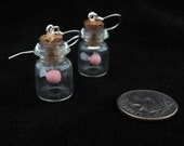 Pink Glow in the Dark Fairy Bottle Earrings Legend of Zelda