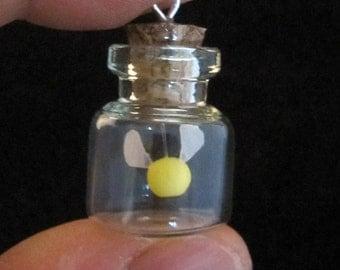 Yellow Glow in the Dark Fairy Bottle Pendant Legend of Zelda