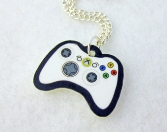 Acrylic White XBOX 360 Video Game Controller Pendant