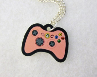 Acrylic Pink XBOX 360 Controller Gamer Necklace