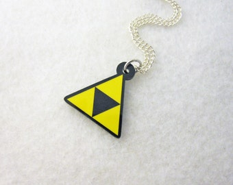 Legend of Zelda Triforce Video Game Necklace