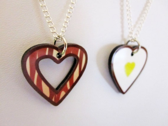 Bacon and Eggs Best Friend Necklace Set