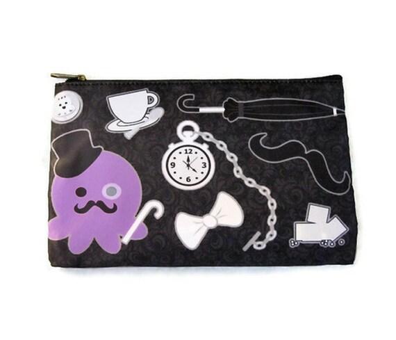 Gentleman Octopus Zipper Pouch LARGE