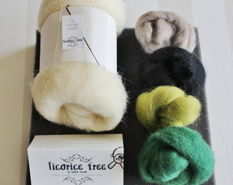 Needle Felting Kit- GARDEN