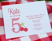 Cherry Birthday Party Invitation - PRINTABLE only