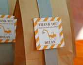 Favor Tags - Construction Birthday Party - PRINTABLE only