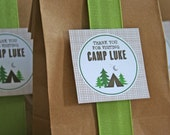 Favor Tags - Camping Birthday Party - PRINTABLE only