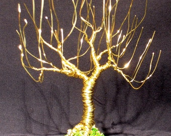 Willow Upright - wire tree sculpture, Original