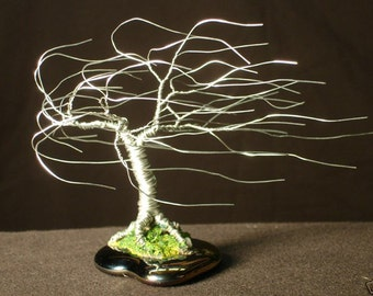 Wind Swept, Wire Tree Sculpture, original by Sal Villano