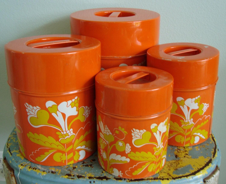 Orange kitchen canisters 28 images burnt orange for Kitchen set orange