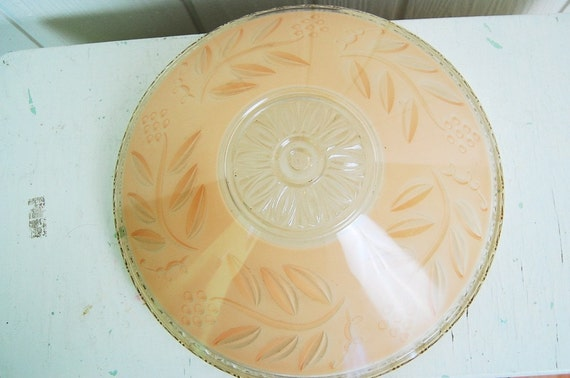 SALE vintage Art Deco glass ceiling light cover