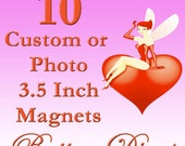 10 Photo or Custom 3 1\/2 Inch (8.9cm) Magnets - Full Color, Professionally Handpressed