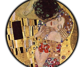 The Kiss Gustav Klimp 2 1/4 inch Pocket Mirror or Keychain or Bottle Opener