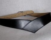 vintage black v belt