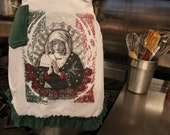 "VIVA LA VIRGIN -Upcycled ""Use Me & Abuse Me"" T-shirt Aprons- ruffled"