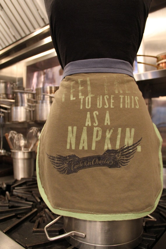 Use Me & Abuse Me T-Shirt Aprons -   Recycled handemade pieces from Skirt Work Crafts