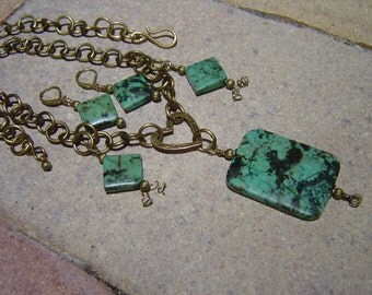 For The Love of Turquoise Necklace and Earring Set