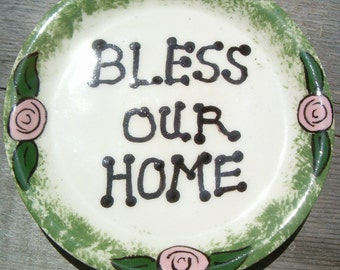 Bless Our Home Coasters | Handmade Ceramic Coasters | Ceramic Spoon Rest