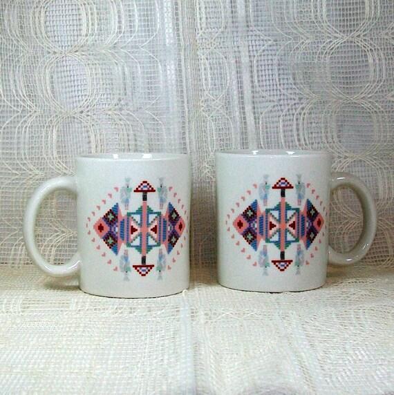 Southwest Style Ceramic Mugs