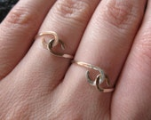 best friends, TWO sterling silver intertwined rings, handmade, one just for you and one for your friend