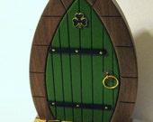 Irish Fairy Door Made Of Three Woods