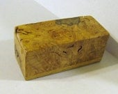 Puzzle Box Made Of Maple Burl wood