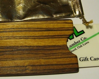 Gift card  Or Cash Presentation Box Made From Two Woods