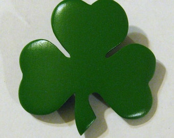 Shamrock Hair Clip Barrette Made From Maple Wood