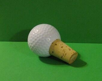Golf Ball Wine Bottle Stopper