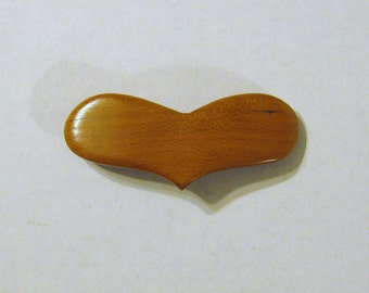 Heart Hair Clip Made Of  Wood
