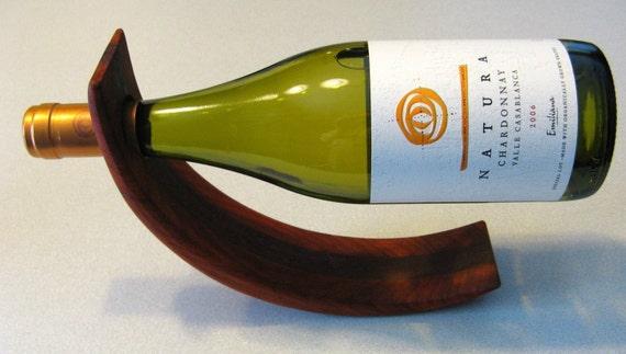 Amazing Balancing Wine Bottle Holder Made Of Two Woods